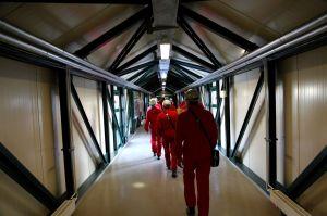 Weg zum Fahrstuhl