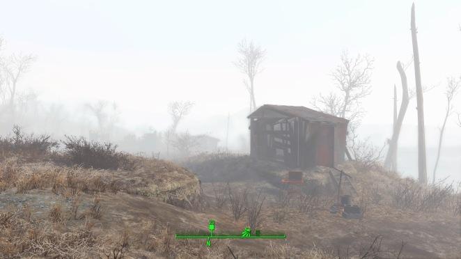 Siedlung im Nebel.